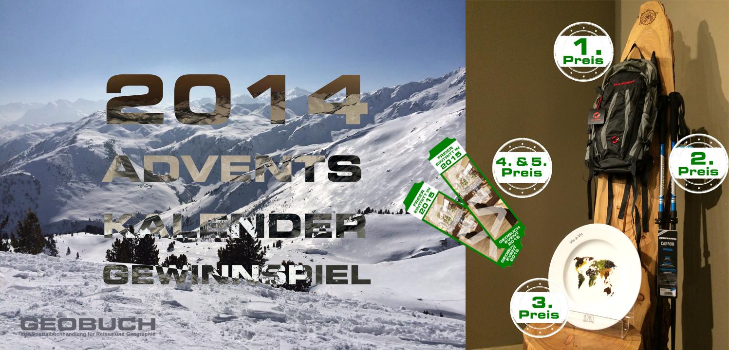 GEOBUCH 2014 ADVENTSKALENDER Gewinnspiel