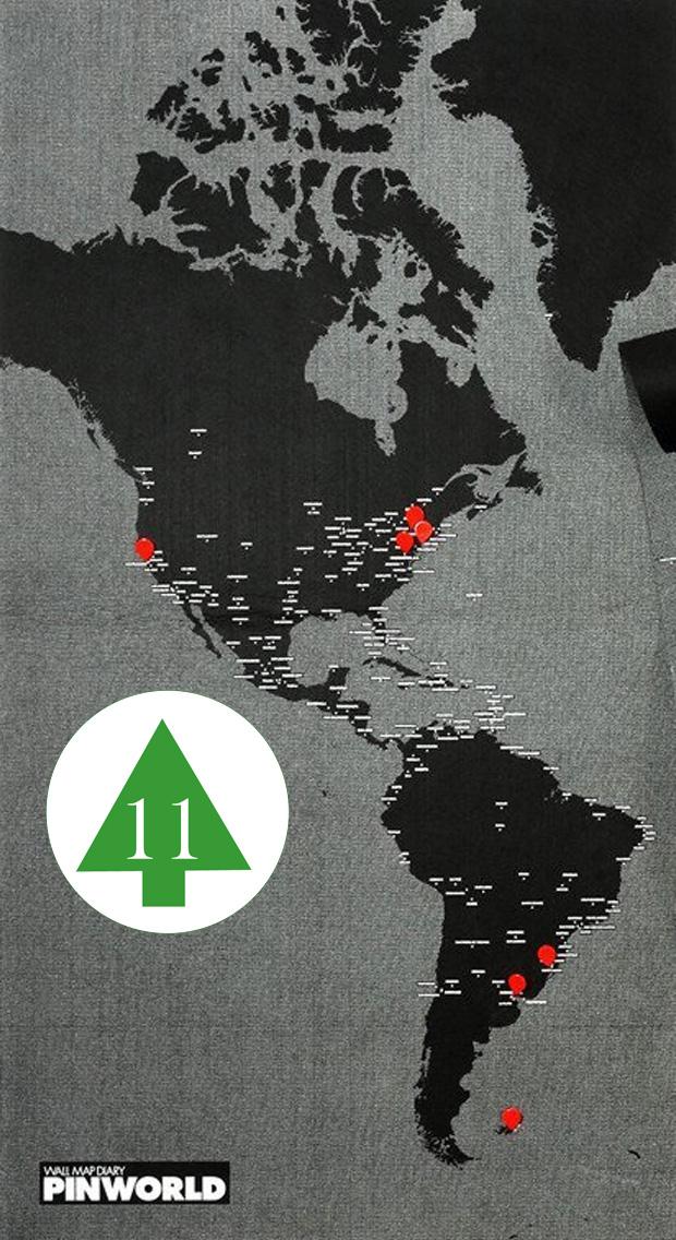 Geheimtipp – Vlies-Weltkarte BLACK