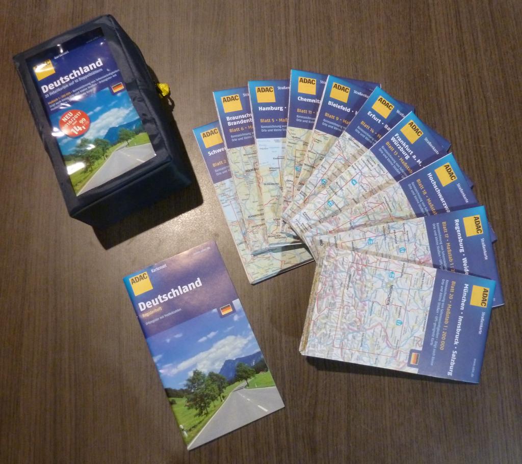 ADAC Kartenset Deutschland Übersicht
