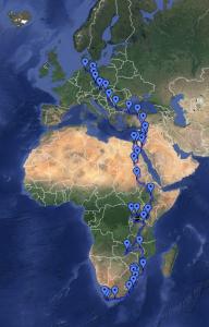 Vom Kiez zum Kap Route