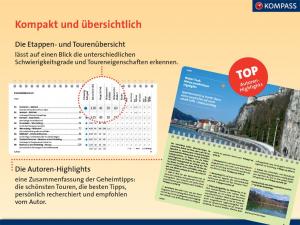Kompass Fahrradführer München und Umgebung Etappen- und Tourenübersicht