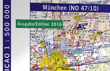 Flugkarten-Tipp: ICAO München 2016 (No 47/10) 1:500.000