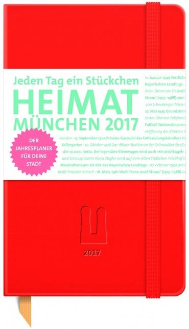 Kalenderneuheit – München 2017 – Jahresplaner rot
